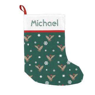 サンタのマガモのアヒルのクリスマス スモールクリスマスストッキング
