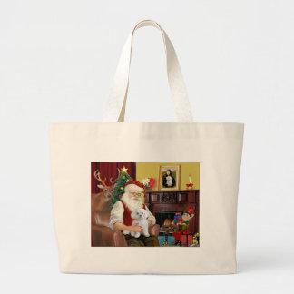 サンタのマルチーズ ラージトートバッグ