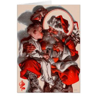 サンタのラップ カード