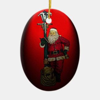 サンタのリストのクリスマスのオーナメント セラミックオーナメント
