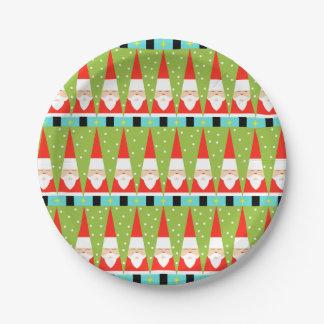 サンタのレトロの幾何学的な紙皿 ペーパープレート