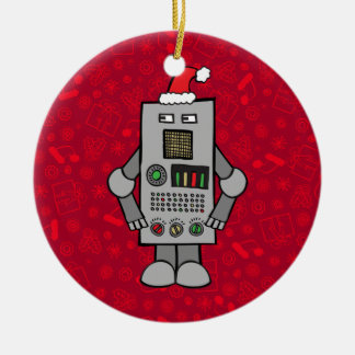 サンタのロボット セラミックオーナメント