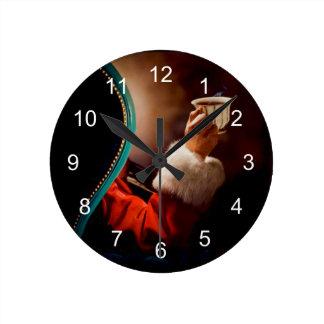 サンタの休憩のヴィンテージ ラウンド壁時計