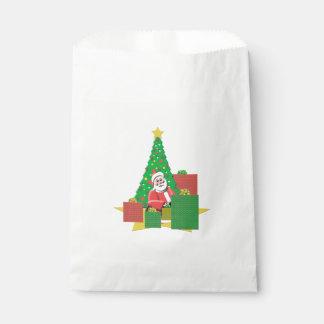 サンタの休日の好意のバッグが付いているクリスマスツリー フェイバーバッグ