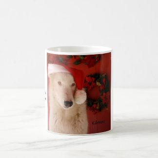 サンタの冬のWolflandの白のマグ コーヒーマグカップ