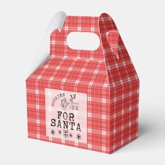 サンタの切り妻の好意箱のためのクリスマスのクッキー フェイバーボックス