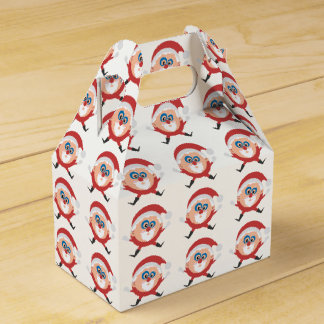 サンタの切り妻箱のクリスマスの円 フェイバーボックス