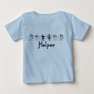 サンタの助手のクリスマスの乳児のTシャツ ベビーTシャツ