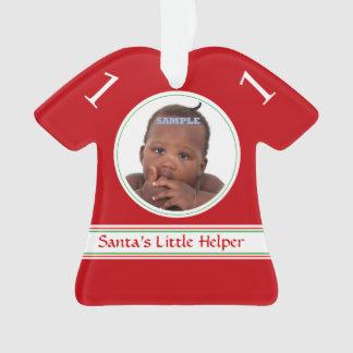 サンタの助手の赤いテンプレートの子供 オーナメント