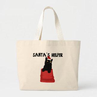 サンタの助手 ラージトートバッグ
