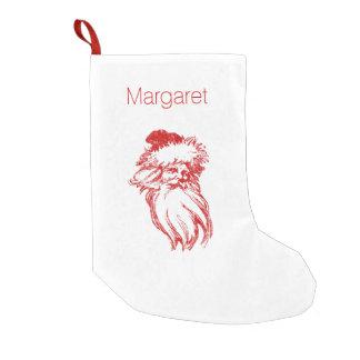サンタの動揺してで模造のな凸版印刷のスタイル スモールクリスマスストッキング