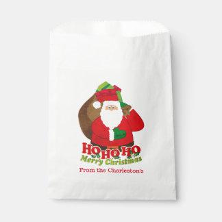 サンタの名前入りな好意のバッグ フェイバーバッグ