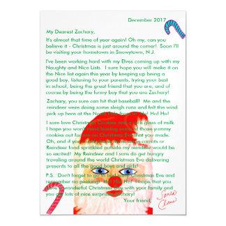 サンタの名前入りな手紙からの手紙 マグネットカード