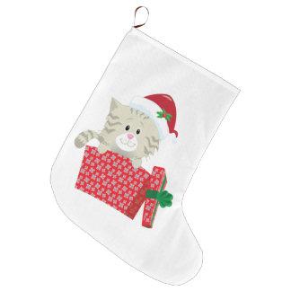 サンタの子ネコ ラージクリスマスストッキング