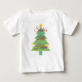 サンタの小さい助手のTシャツ ベビーTシャツ