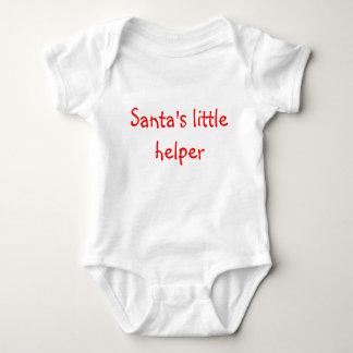 サンタの小さい助手 ベビーボディスーツ