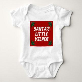 サンタの少しYelper ベビーボディスーツ