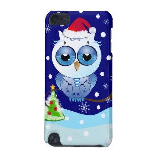 サンタの帽子のクリスマスのipod touchの場合を持つかわいいフクロウ iPod touch 5G ケース
