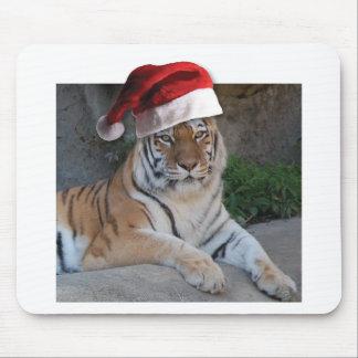 サンタの帽子のベンガルトラ マウスパッド