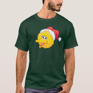 サンタの帽子の大きい鳥 Tシャツ