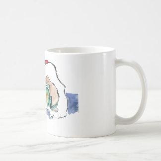 サンタの帽子のFroggy コーヒーマグカップ