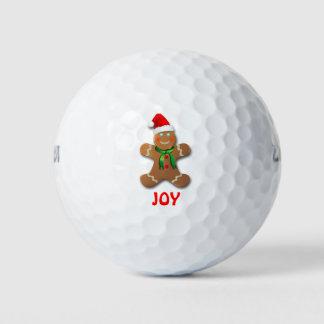 サンタの帽子を持つおもしろいなジンジャーブレッドマン ゴルフボール