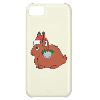 サンタの帽子及びシルバーベルが付いている赤い北極ノウサギ iPhone5Cケース