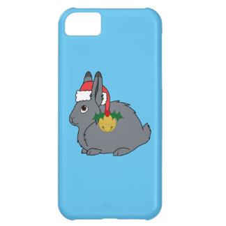 サンタの帽子及び金ゴールド鐘の灰色の北極ノウサギ iPhone5Cケース