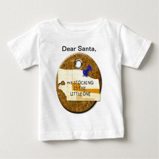 サンタの幼児親愛なノート ベビーTシャツ