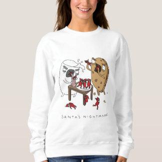 サンタの悪夢|のおもしろいなクリスマスのジャンパー-文字 スウェットシャツ