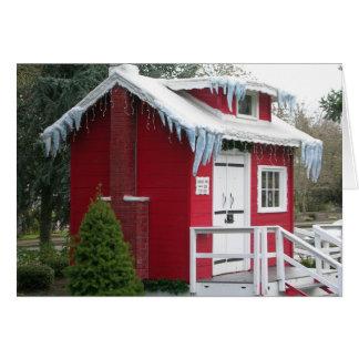 サンタの掘っ建て小屋 カード