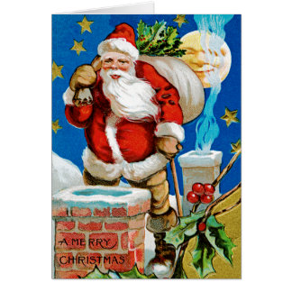 サンタの月 グリーティングカード