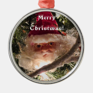 サンタの木のオーナメント、赤いクリスマスの球、ライト メタルオーナメント