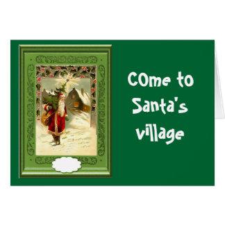 サンタの村に来られる グリーティングカード