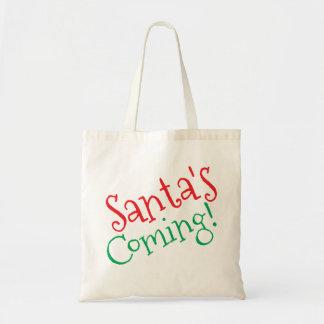 サンタの来ること! トートバッグ