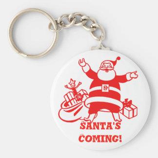 サンタの来るレトロのクリスマス キーホルダー