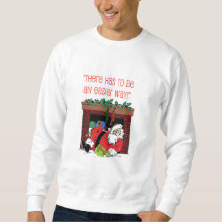 サンタの煙突の災難のクリスマスのスエットシャツ スウェットシャツ