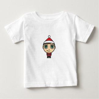 サンタの男の子のマンガのキャラクタの乳児のTシャツ ベビーTシャツ
