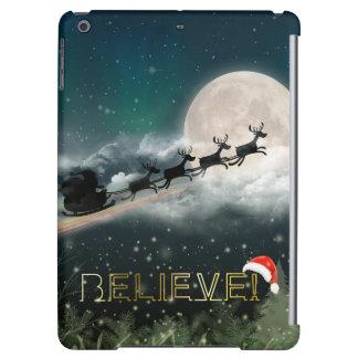 サンタの真夜中の乗車のクリスマスのiPadの空気箱