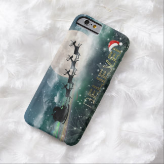 サンタの真夜中の乗車のクリスマスのiPhone 6/Plusの場合 Barely There iPhone 6 ケース