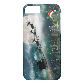 サンタの真夜中の乗車のクリスマスのiPhone 7/Plusの場合 iPhone 8/7ケース