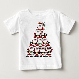 サンタの積み重ね ベビーTシャツ