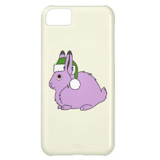 サンタの緑の帽子が付いている薄紫の北極ノウサギ iPhone5Cケース