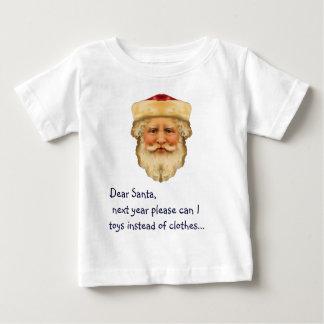 サンタの親愛なワイシャツ ベビーTシャツ