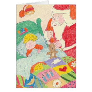 サンタの訪問 カード