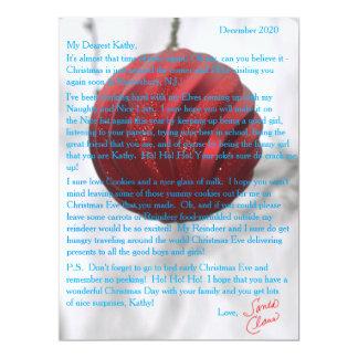 サンタの赤いオーナメントからの手紙 カード