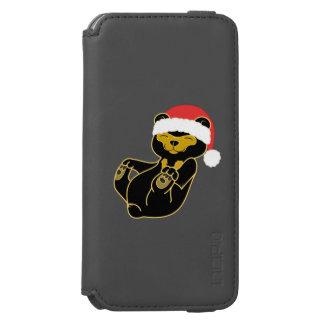 サンタの赤い帽子を持つクリスマスのパンダくま INCIPIO WATSON™ iPhone 5 財布型ケース