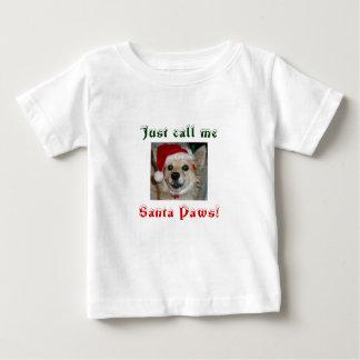 サンタの足のTシャツ ベビーTシャツ