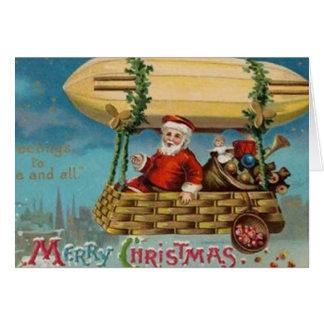 サンタの軟式小型飛行船 カード