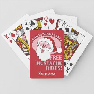 サンタの髭はカードを遊ぶ習慣に乗ります トランプ